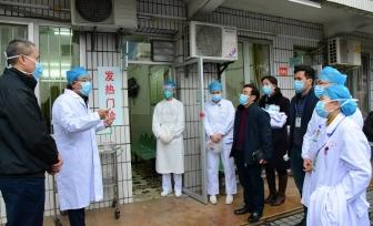 学校校长唐农看望慰问我院一线医务人员并检查新型冠状病毒感染的肺炎防控工作落实情况