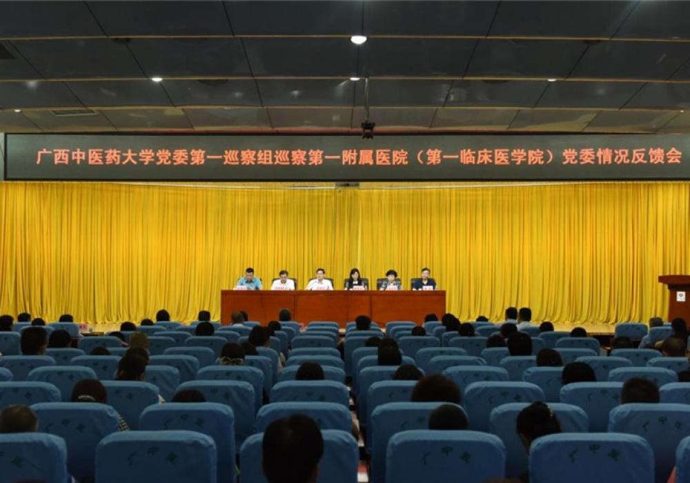 广西中医药大学党委第一巡察组向我院党委反馈巡察情况